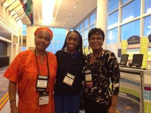 Celebrating with Dr. Hazel Symonette and Caroline Blackwell