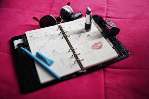 The calendar I never kept. Lipstick? Really?